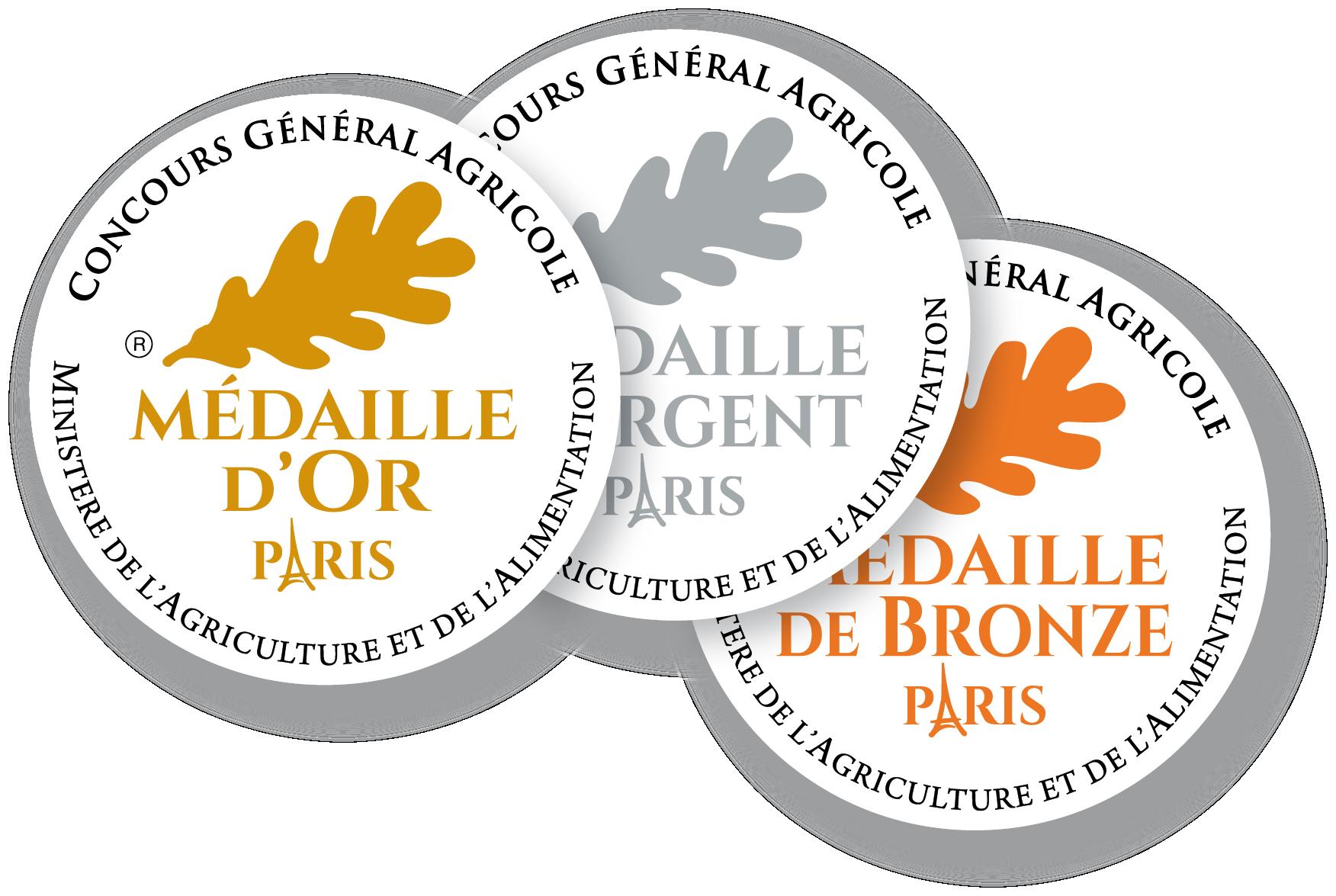 Médailles d'argent concours général de Paris